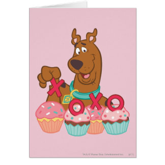 Scooby Doo - Scooby XOXO Cupcakes Greeting Card