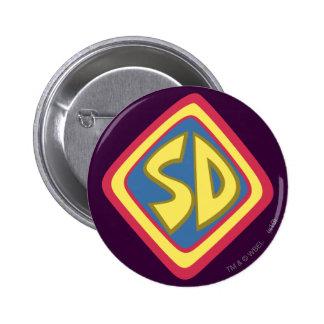 """Scooby Doo """"SD""""1 6 Cm Round Badge"""