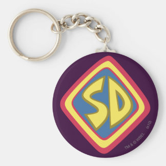 "Scooby Doo ""SD""1 Basic Round Button Key Ring"