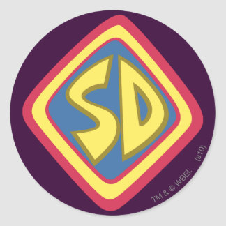 "Scooby Doo ""SD""1 Round Stickers"