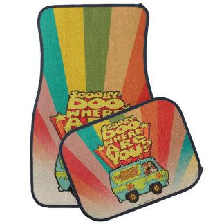 "Scooby-Doo | ""Where Are You?"" Retro Cartoon Van Car Mat"