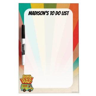 "Scooby-Doo   ""Where Are You?"" Retro Cartoon Van Dry Erase Board"