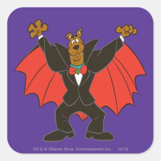 Scooby Dracula Square Sticker