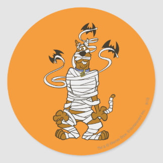 Scooby Mummy Round Sticker