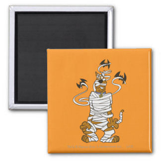 Scooby Mummy Square Magnet