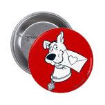 Scooby Valentine's Day 02 6 Cm Round Badge