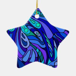 Scoop of Zen Blue Christmas Ornament