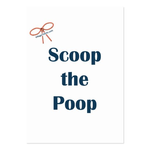 Scoop The Poop Reminders Pack Of Chubby Business Cards
