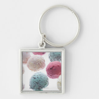 Scoops of ice creams key ring