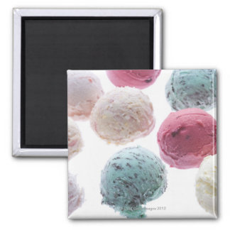 Scoops of ice creams magnet