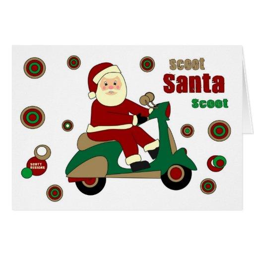 Scoot Santa Scoot Card