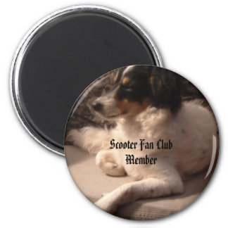 Scooter3, Scooter Fan Club Member 6 Cm Round Magnet