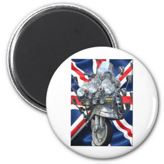 Scooter 6 Cm Round Magnet