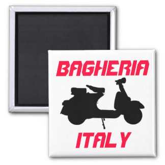 Scooter, Bagheria, Italy Square Magnet