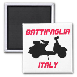 Scooter, Battipaglia, Italy Refrigerator Magnet