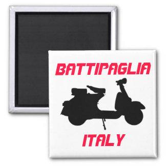 Scooter, Battipaglia, Italy Square Magnet