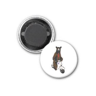 Scooter Bear Magnet