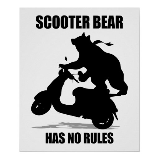 Scooter Bear Print