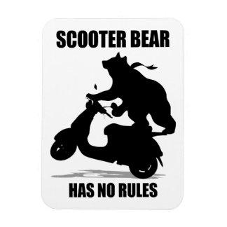 Scooter Bear Rectangular Magnet