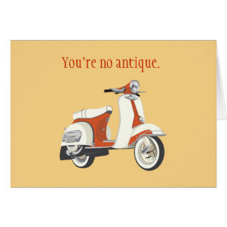 Scooter Birthday Card