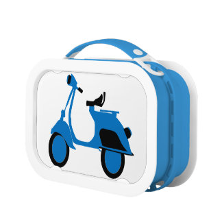 Scooter Blue Lunch Box