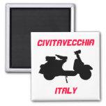 Scooter, Civitavecchia, Italy Square Magnet