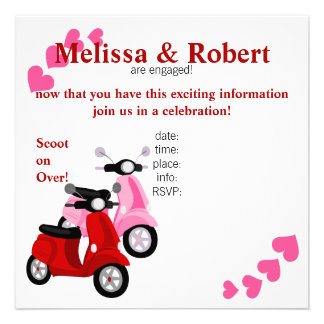 Scooter for two personalized announcement