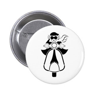 Scooter Girl 6 Cm Round Badge