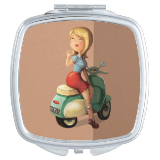 Scooter Girl Compact Mirror