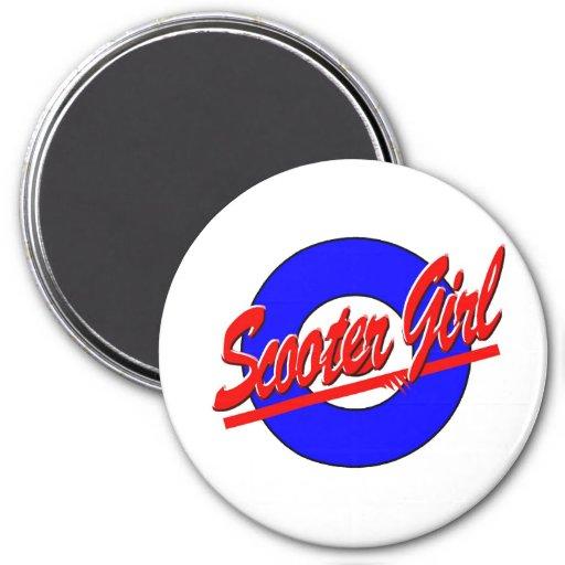 Scooter Girl Fridge Magnets