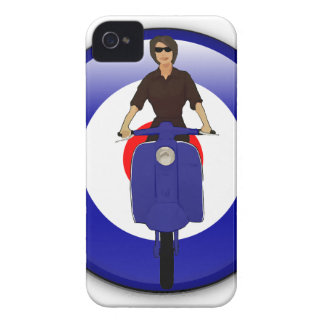 Scooter girl on 3d mod target iPhone 4 case