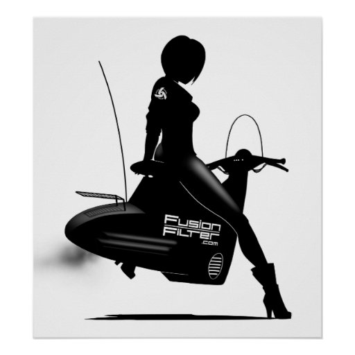 Scooter Girl Print