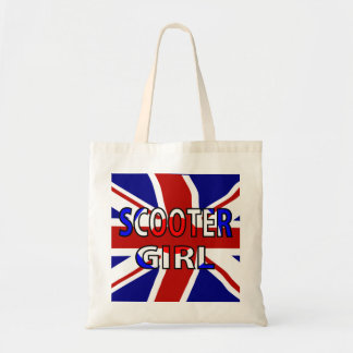 Scooter Girl RWB Budget Tote Bag
