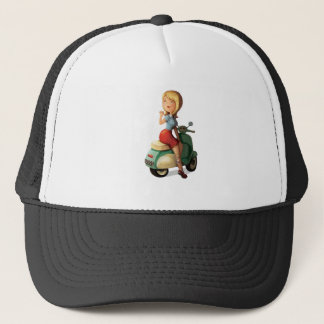 Scooter Girl Trucker Hat