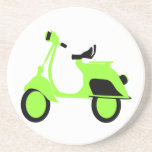 Scooter Green Drink Coaster