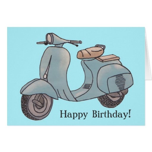Scooter Greeting Card