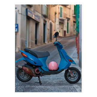 Scooter in Italy Postcard