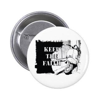 Scooter Keep the Faith 6 Cm Round Badge