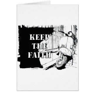 Scooter Keep the Faith Greeting Cards