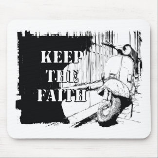Scooter Keep the Faith Mouse Mat