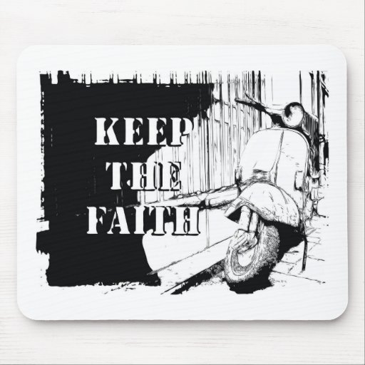 Scooter Keep the Faith Mouse Mats