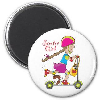 Scooter Kid 6 Cm Round Magnet