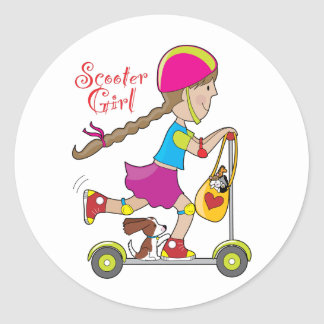 Scooter Kid Stickers