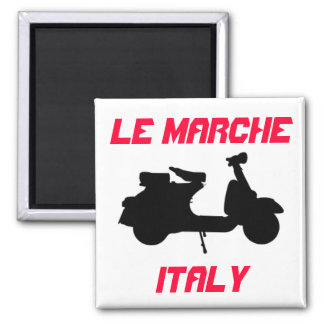 Scooter, Le Marche, Italy Square Magnet