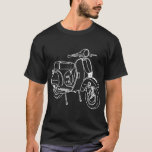 Scooter Line Drawing T-Shirt