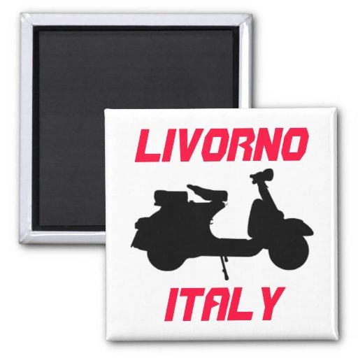 Scooter, Livorno, Italy Magnets
