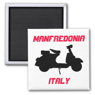 Scooter, Manfredonia, Italy Square Magnet