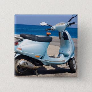 Scooter On The Beach | Ephesus, Turkey 15 Cm Square Badge