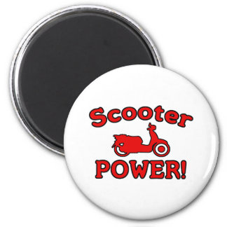 Scooter POWER! 6 Cm Round Magnet