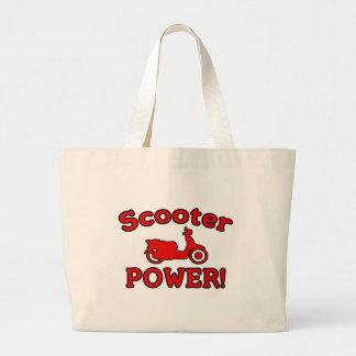 Scooter POWER! Large Tote Bag